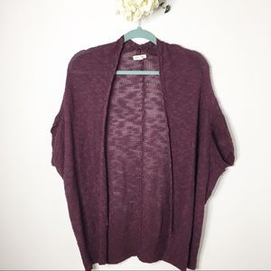 UO Silence & Noise Purple Cardigan